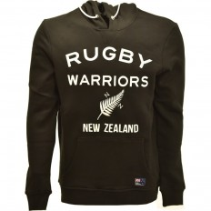 Sweat capuche homme New Zealand Rugby Warriors noir