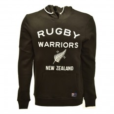 Sweat capuche enfant New Zealand Rugby Warriors noir