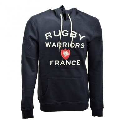 Sweat capuche enfant 15 de France Rugby Warriors marine