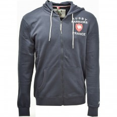 Sweat capuche zippé homme 15 de France Rugby Warriors marine