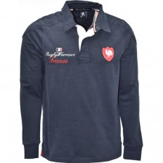 Polo homme manche longue 15 de France Rugby Warriors marine