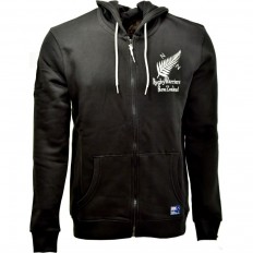 Sweat capuche zippé homme New Zealand Rugby Warriors noir