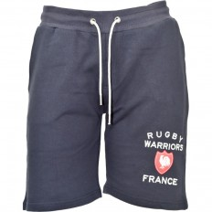 Short bermuda French Terry France Rugby Warriors marine
