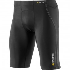 Sous short homme A400 Compression Half Tights Skins noir