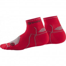 Chaussette Essentials Performance Quarter Length Skins rouge
