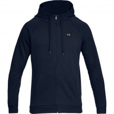 Sweat capuche zippé Rival Fleece Under Armour marine