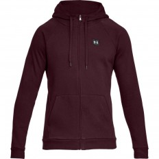 Sweat capuche zippé Rival Fleece Under Armour bordeaux