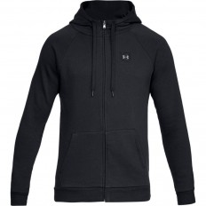 Sweat capuche zippé Rival Fleece Under Armour noir