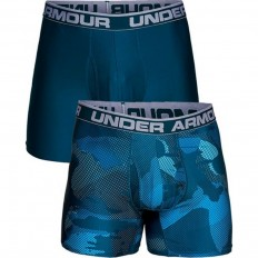 "Boxer jock x2 Original Series 6"" Under Armour bleu techno teal"