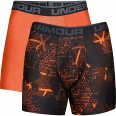 "Boxer jock x2 Original Series 6"" Under Armour orange magma acier"