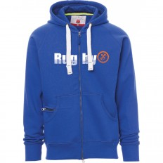 Sweat capuche zippé Trade R//S bleu roi