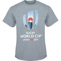 T-shirt Logo Rugby World Cup Japan 2019 gris chiné