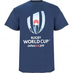 T-shirt Logo Rugby World Cup Japan 2019 marine