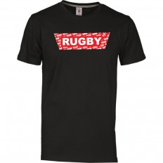 T-shirt homme Rugby Red R//S noir rouge