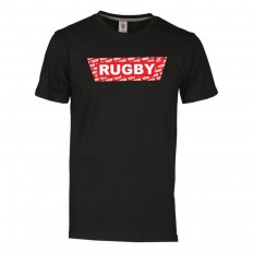 T-shirt enfant Rugby Red R//S noir rouge