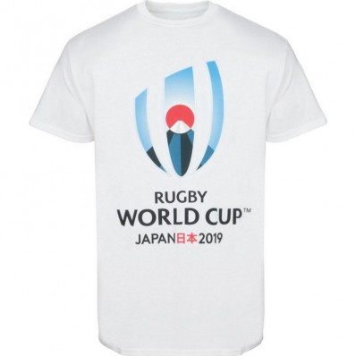 T-shirt Logo Rugby World Cup Japan 2019 blanc