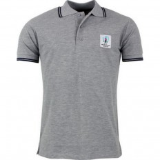 Polo Logo Rugby World Cup Japan 2019 gris chiné
