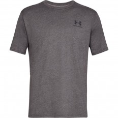 Tee shirt UA Sportstyle Left Chest SS Under Armour gris charbon