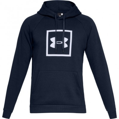 Sweat capuche Rival Fleece Logo Under Armour bleu academy