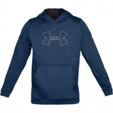 Sweat capuche Performance Fleece Graphic Under Armour bleu pétrole