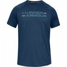 Tee shirt MK1 Wordmark SS Under Armour bleu pétrole