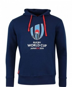 Sweat capuche enfant Logo Rugby World Cup Japan 2019 marine