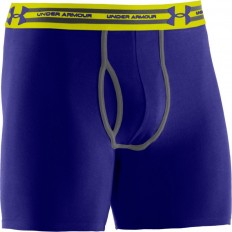 "Boxer jock Charged Cotton 6"" Under Armour bleu jaune"