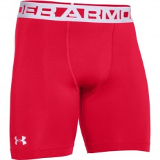 Short Compression Coldgear 2.0 Under Armour rouge blanc