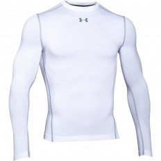 Tee shirt Crew Armour Compression ColdGear® LS Under Armour blanc
