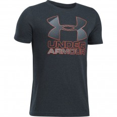 Tee shirt enfant Big Logo Hybrid 2.0 SS Under Armour anthracite rouge