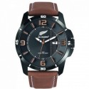 Montre bracelet cuir All Blacks Certus noir marron