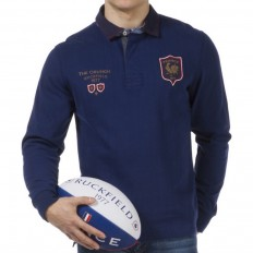 Polo rugby France The Crunch Ruckfield bleu foncé