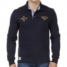 Polo homme The Crunch col cravate Ruckfield bleu marine