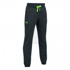Pantalon enfant UA Rival Fleece Under Armour noir vert