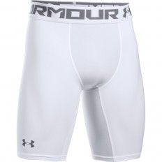 "Short long 9"" Armour HeatGear® 2.0 Under Armour blanc gris"
