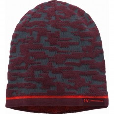 Bonnet homme UA Rev Graphic Under Armour rouge gris acier