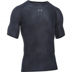 Tee shirt Printed Armour HeatGear® SS Under Armour noir