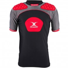 Epauliere rugby Atomic V3 Gilbert noir rouge