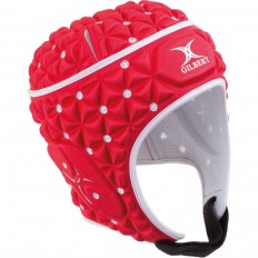 Casque rugby Ignite Gilbert rouge blanc
