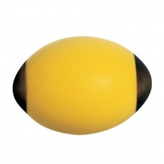 Ballon mousse rugby Tremblay jaune noir