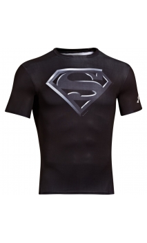 Tee shirt Superman Compression HeatGear® SS Under Armour noir