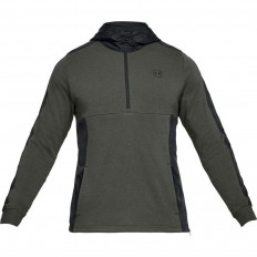 Sweat capuche 1/2 zip Terry Threadborne™ Under Armour vert foncé
