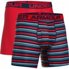 "Boxer jock x2 Original Series 6"" Under Armour rouge bleu"