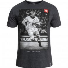 Tee shirt Buffalo Top 14 Rugby Division noir chiné