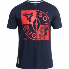 Tee shirt Check Rugby Division marine