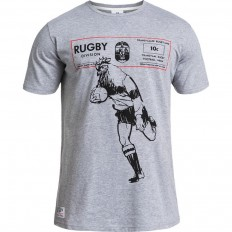 Tee shirt Coq Rugby Division gris chiné