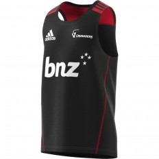 Maillot sans manche Crusaders Super Rugby 2018 Adidas noir