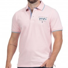 Polo homme manche courte We Are Rugby Ruckfield rose clair