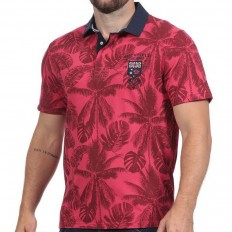 Polo homme manche courte Rugby Island Ruckfield rouge