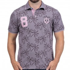 Polo homme manche courte Rugby Island Ruckfield parme